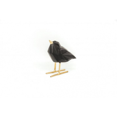Zwarte Love Bird- 7x13x9 cm