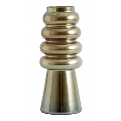 Avarua Vase Long Brown Metallic
