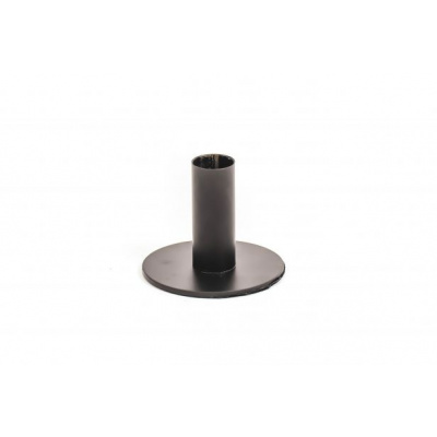 Candle Holder Black 8x8x6,5cm