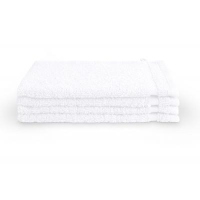 Waschlappenbad-Grundlagen weiß (4 Stück) - 16x21 cm