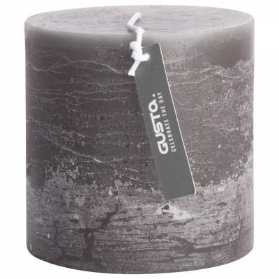 Rustikale Kerze Ø10x10cm dunkelgrau
