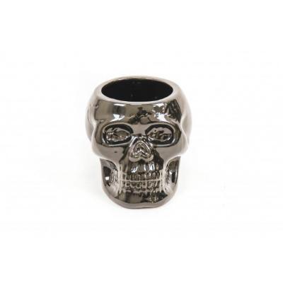 Skull Pot- Zwart- 15,5x12,5x11,5cm