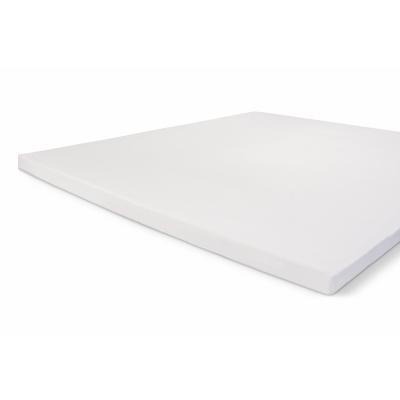 Montiertes blatt knuspriges baumwolle topper weiß - 160x220 cm