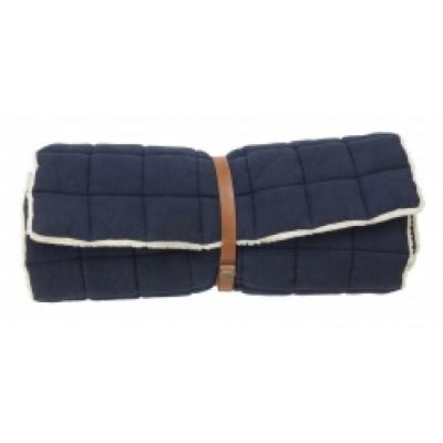 YIN YOGA matras met vacht donkerblauw