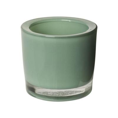 Theelichthouder ø6.5x6cm groen