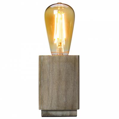 Hölzerne Vintage-Lampe