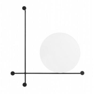Spiegel, Kreis mit Garderobenstangen, klein