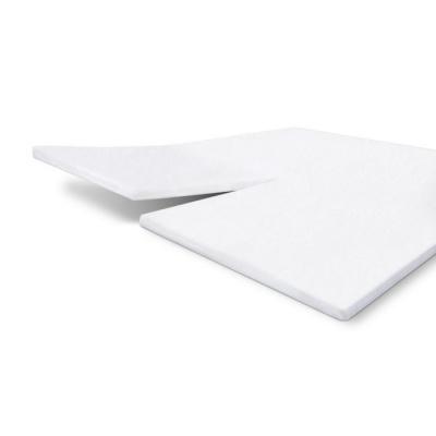 Molton Cotton Cover Split-Topper Wit - 180x200/210 cm