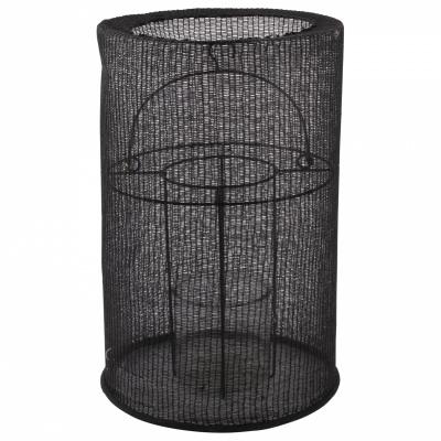 Lantaarn katoen ø24x36cm zwart