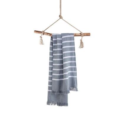 Hamamdoek Fouta Sunny Stripes Blauw - 100x180 cm