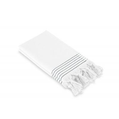Gäste Dusche Weiche Baumwolle Hammam Weiß (Set 2 Stück) - 30x50 cm