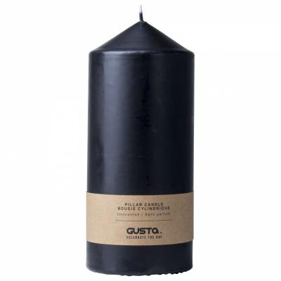 Kerzensäule Ø8x18cm schwarz