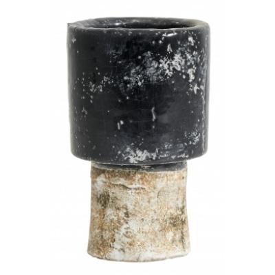 Reso-Vase - Schwarz / Weiß