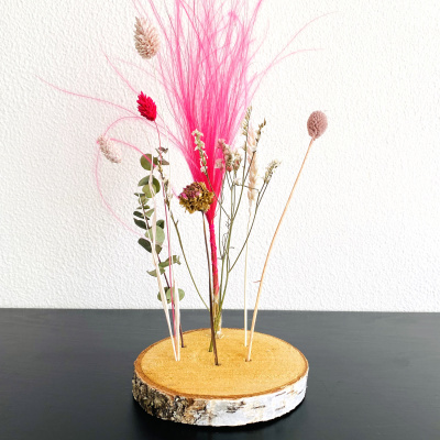 WOODEN FLOWERS PINK