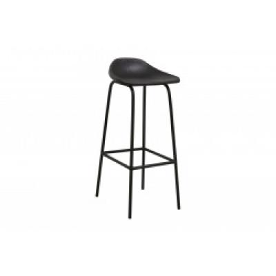 Garda Bar Stuhl, schwarzes Leder