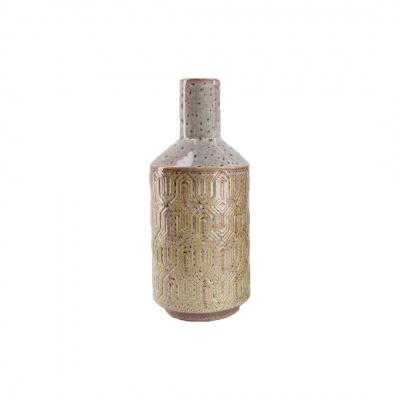 Vase Keramik-Flasche - Druck Rosa