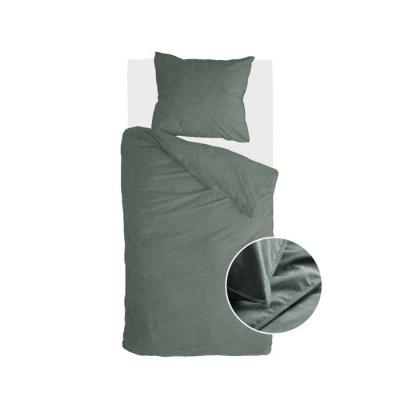 Dekbedovertrek Vintage Cotton Donker Groen - 155x220 cm