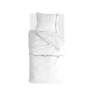 Dekbedovertrek Never Stop Dreaming Wit - 155x220 cm