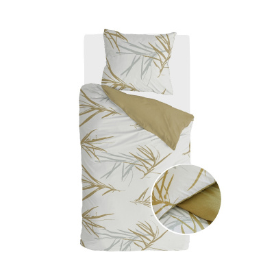 Bettbezug Remod Bambusgräser Honig Senf - 140x220 cm