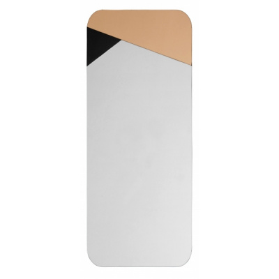 Spiegel geometrische roze / zwarte kleur deco