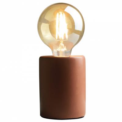 Tafellamp LED ø9xH12cm terracotta