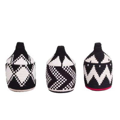 Berber-Korb schwarz und weiß schwarz, weiß s