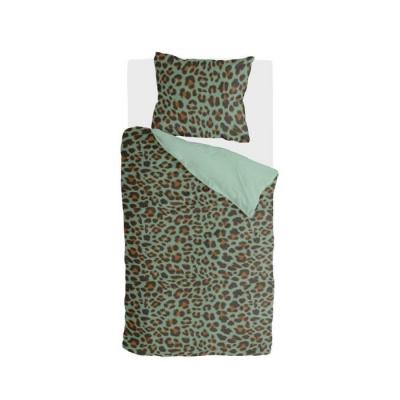 Dekbedovertrek Lazy Leopard Groen - 140x220 cm