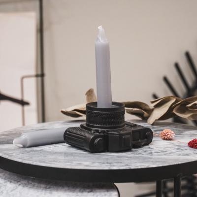 Kerzen grau - 6 Stück
