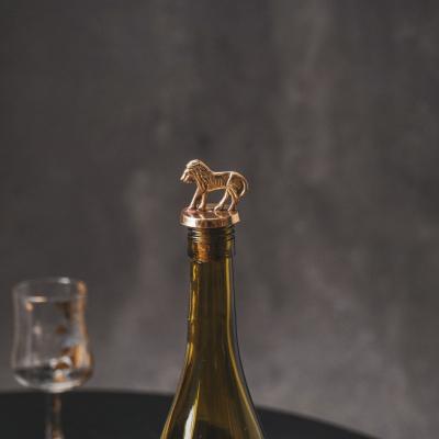 Flessendop Kurk met Leeuw-Goud-4x3,5x6cm