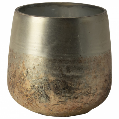 Teelichthalter Silber Ø7x8cm