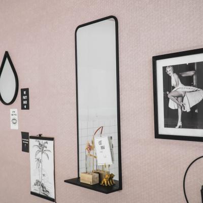 Wand Spiegel met Plank - 35x11x90cm
