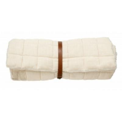 YIN YOGA matras met bont ivoor