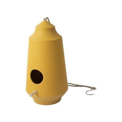 Vogelvoeder huisje ø15x28cm geel
