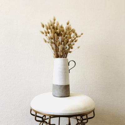 Keramik-Vase - Weiß und Grau