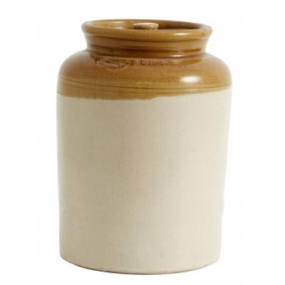 Keramische Pot met Deksel, Bruin, Top Geglazuurd