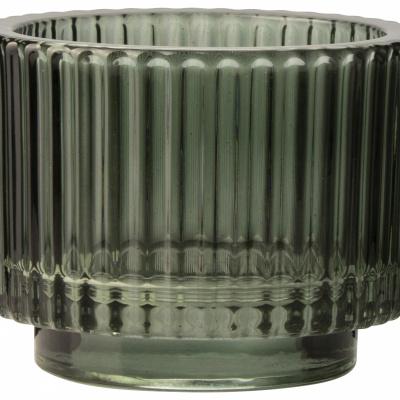 Gla-Teelichthalter Ø9x7cm grün