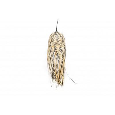Lampenkap Bamboe-Zwart/Naturel -Ø25cm