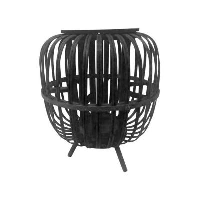 Sfeerlantaarn hout ø22x26.5cm zwart