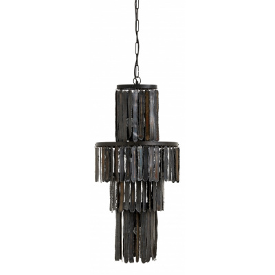 Opknoping Lamp, Zwart Metaalstroken