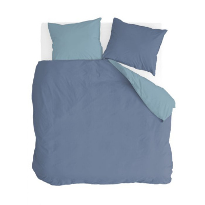 Dekbedovertrek Side Way Donker Blauw / Blauw - 240x220 cm