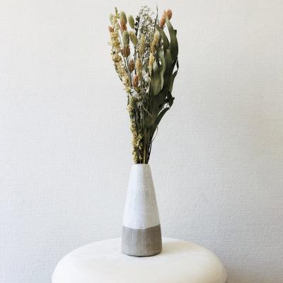 Keramik-Vase - Creme Taupe