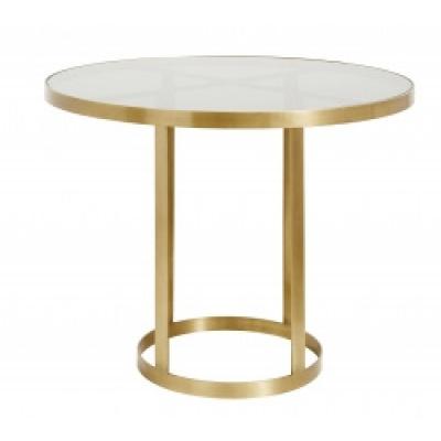 Luxe Round-Display Tafel, Gouden / Zwart