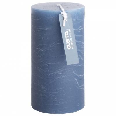 Rustikale Kerze Ø68x13cm blau