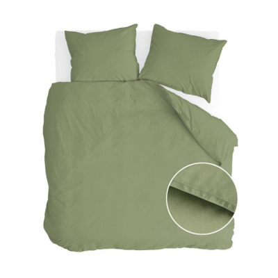 Dekbedovertrek Soft Structure Groen - 200x220 cm