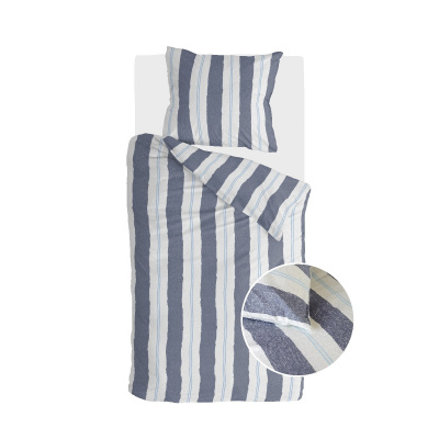 Bettbezug Remade Nautic Stripes dunkelblau - 140x220 cm