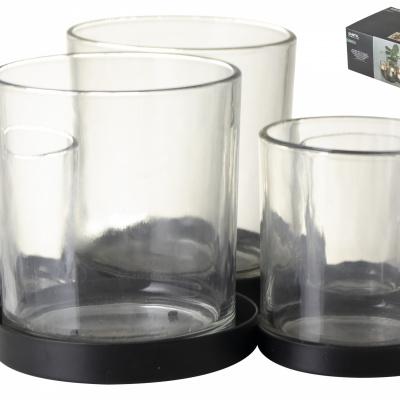 Metallhalter mit Gläsern 5 Stück