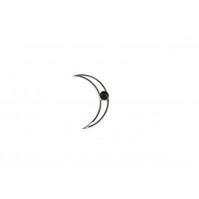 Maan Kandelaar - Zwart - 14x3x7cm