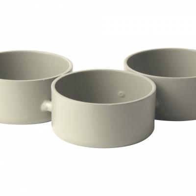 Teelichthalter aus Metall 3 Stück weiß