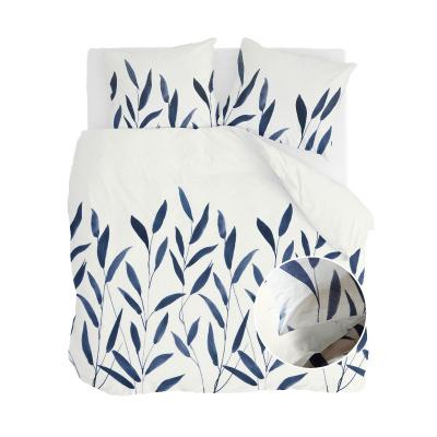 Bettbezug Bambuszweige weiß / dunkelgrau - 200x220 cm