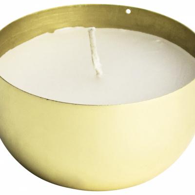 Kaars ø7x4cm goud